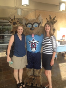 Hanging with T-Rac at Packet Pick-Up